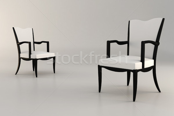 3D fauteuil studio maison fond Photo stock © digitalgenetics