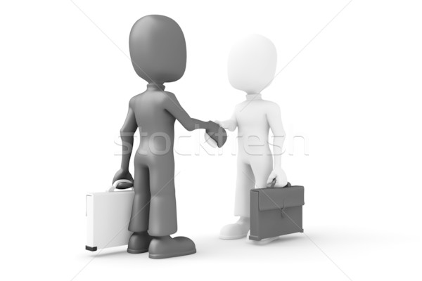 3d man, shaking hands Stock photo © digitalgenetics