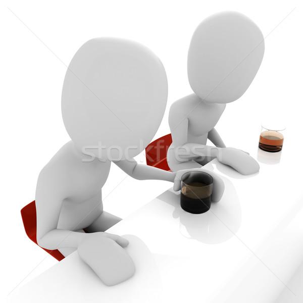 Nie opis człowiek świetle alkoholu osoby Zdjęcia stock © digitalgenetics