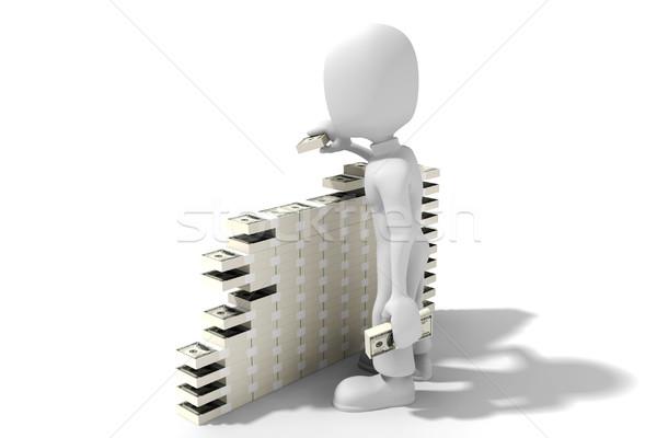 No descripción hombre trabajo resumen verde Foto stock © digitalgenetics