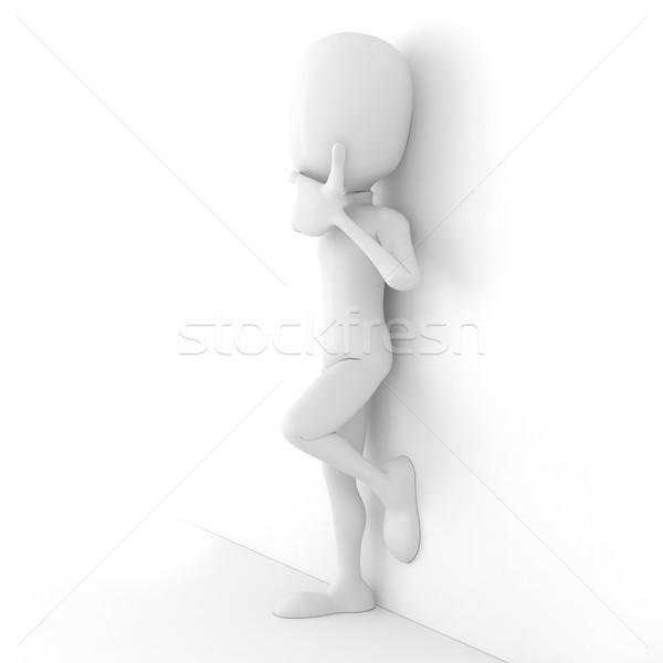 Uomo 3d pensare business uomo sfondo executive Foto d'archivio © digitalgenetics