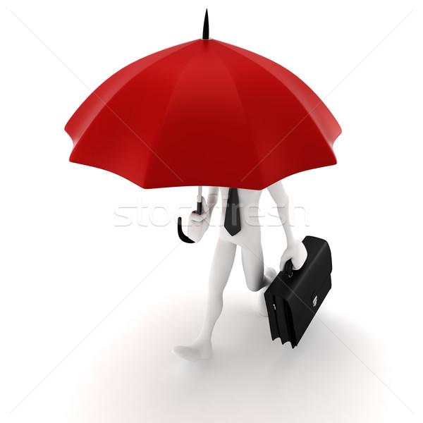 Uomo 3d ombrello sicurezza business uomo Foto d'archivio © digitalgenetics