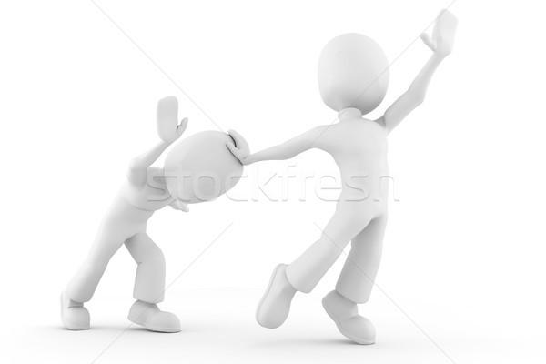 3d ember versenyző elér képzeletbeli tárgy üzlet Stock fotó © digitalgenetics