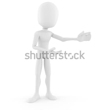 3d man handcuffed Stock photo © digitalgenetics