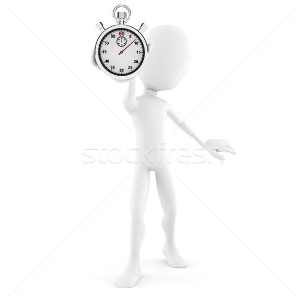 ストックフォト: 3次元の男 · ストップウオッチ · クロック · スポーツ · ビジネスマン · 時間