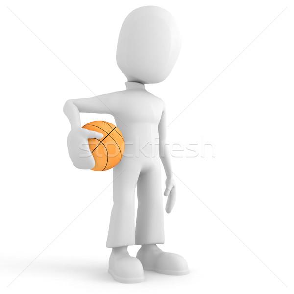 Nie opis sportu dziedzinie piłka koszyka Zdjęcia stock © digitalgenetics
