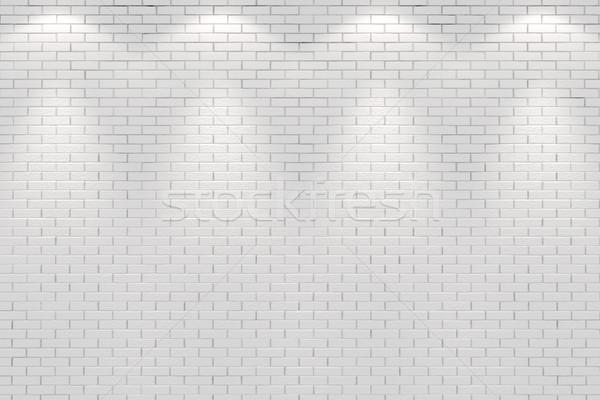 Pokój ściany cztery miejscu światła świetle Zdjęcia stock © digitalgenetics