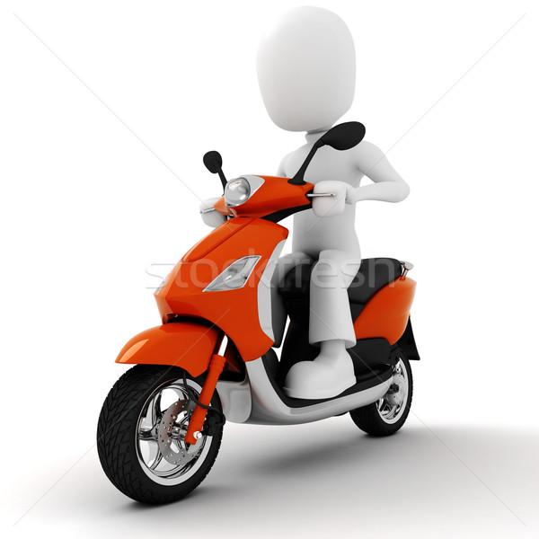 3d man on motorcycle Stock photo © digitalgenetics