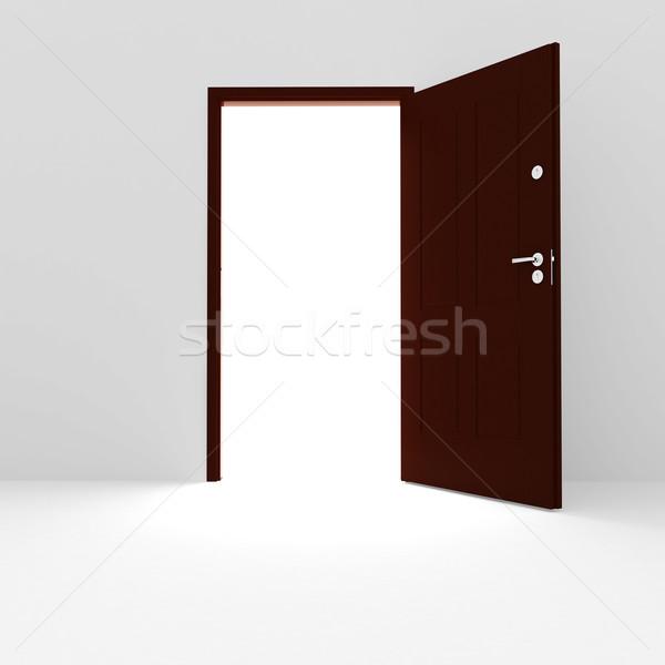 нет описание свет крест двери будущем Сток-фото © digitalgenetics