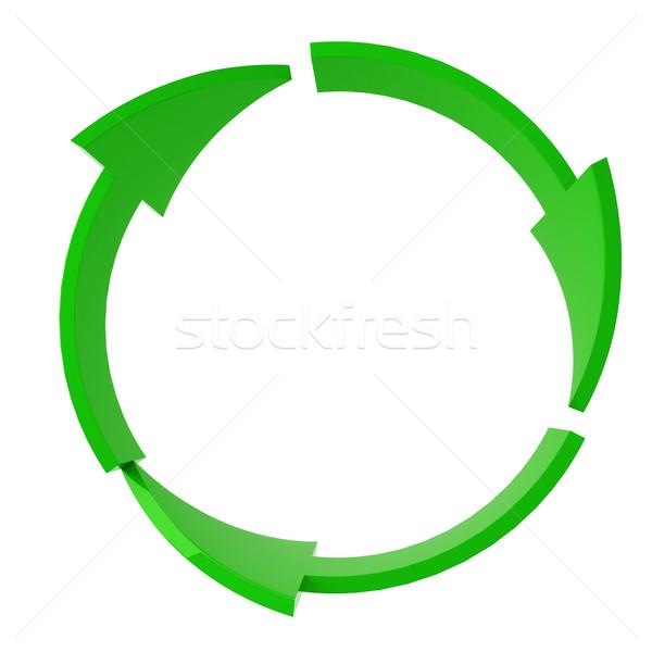 Verde riciclare simbolo isolato bianco lavoro Foto d'archivio © digitalgenetics