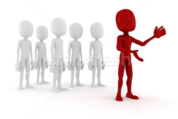 3次元の男 リーダー 群衆 3D 男性 ストックフォト © digitalgenetics