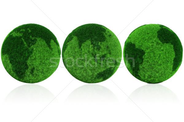 3D 地球 世界中 草 ビジネス 空 ストックフォト © digitalgenetics