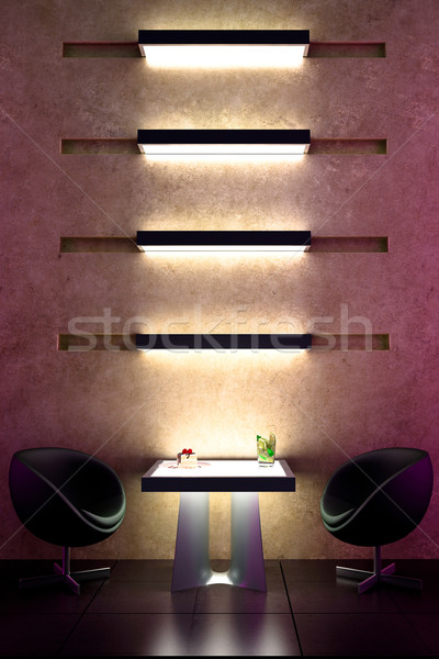 3D bar intiem atmosfeer interieur licht Stockfoto © digitalgenetics