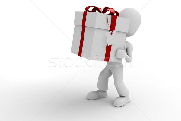 Uomo 3d presenta isolato bianco uomo shopping Foto d'archivio © digitalgenetics