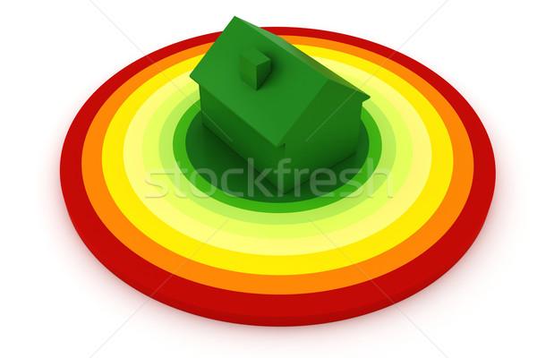 3D energie-efficiëntie witte bouw home technologie Stockfoto © digitalgenetics
