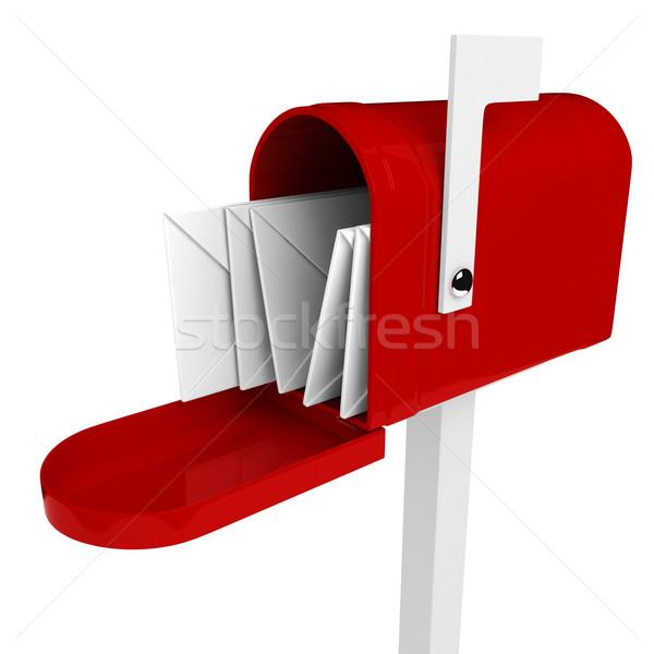 3D boîte aux lettres lettre à l'intérieur design boîte Photo stock © digitalgenetics