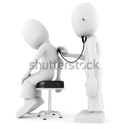 O homem 3d exame médico mão homem médico fundo Foto stock © digitalgenetics
