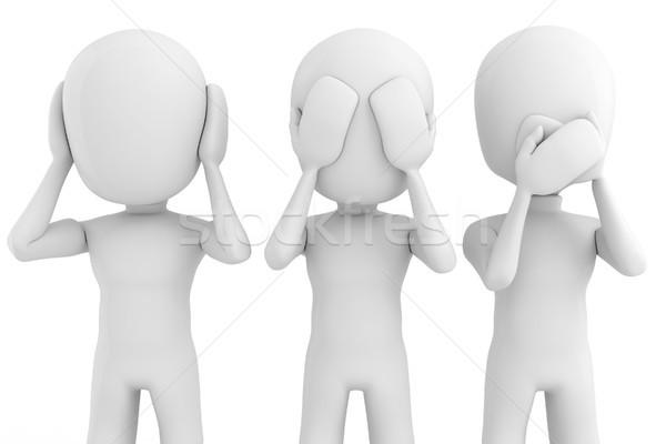 3d man pas voir parler affaires Photo stock © digitalgenetics