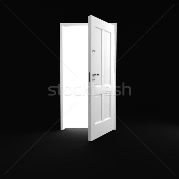 Geen beschrijving licht kruis deur toekomst Stockfoto © digitalgenetics