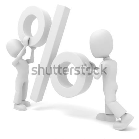 Mężczyzna 3d gry symbol działalności ludzi Zdjęcia stock © digitalgenetics