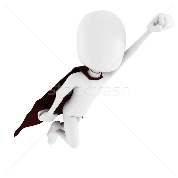 3d человек superhero спасательные человека спорт фон Сток-фото © digitalgenetics
