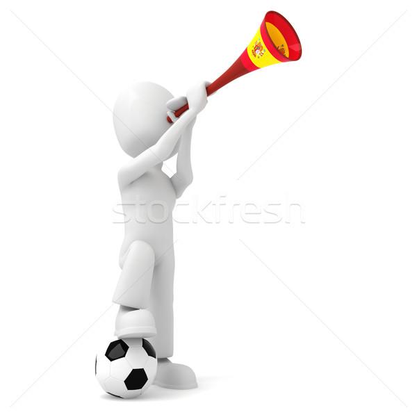 Hombre 3d hombre pelota África taza pie Foto stock © digitalgenetics