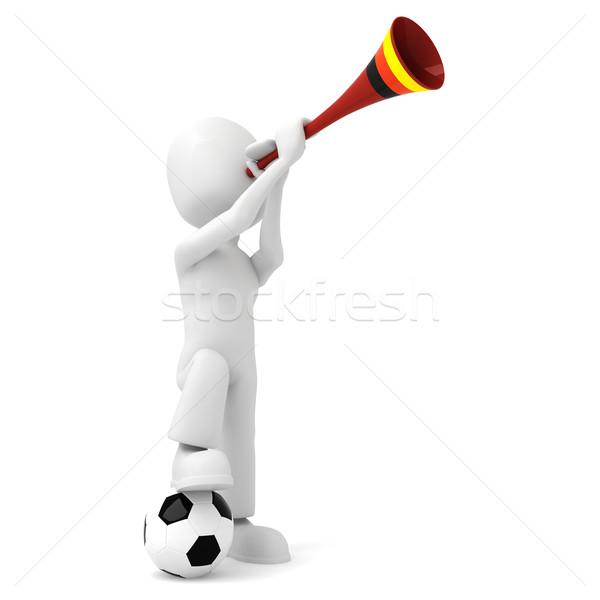 3d man and vuvuzela Stock photo © digitalgenetics