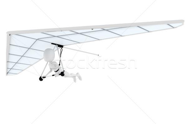 Foto stock: Hombre · 3d · vuelo · resumen · diseno · verano · avión
