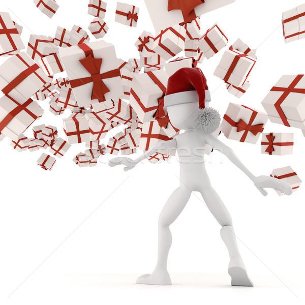 3D Natale presenta carta uomo sfondo Foto d'archivio © digitalgenetics