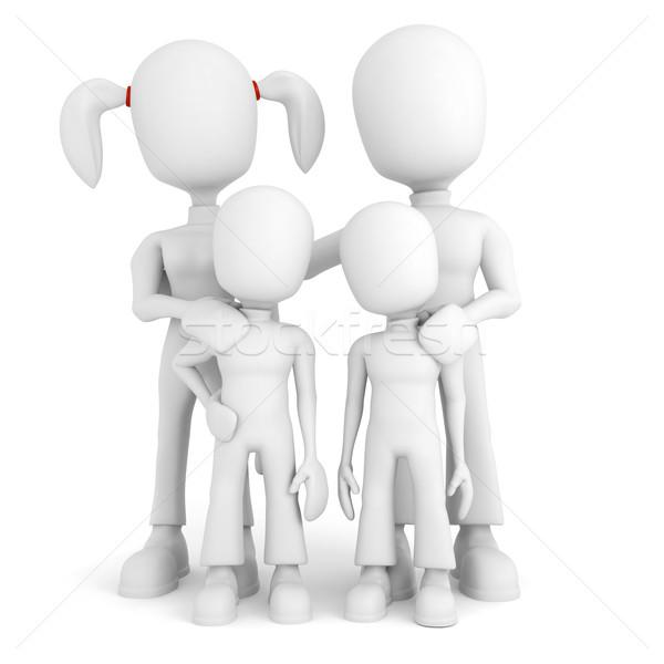 Não descrição menina amor crianças amigos Foto stock © digitalgenetics