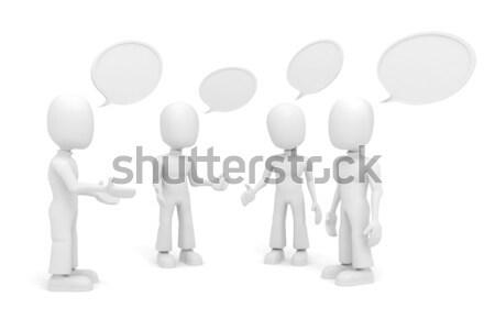 3d man conferentie man ontwerp achtergrond bedrijf Stockfoto © digitalgenetics