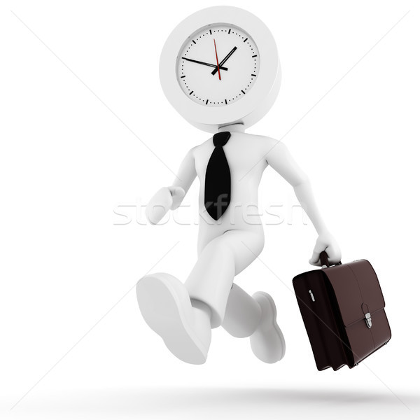 3d man,  businessman running out of time Stock photo © digitalgenetics