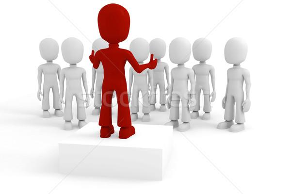 3d man conference Stock photo © digitalgenetics