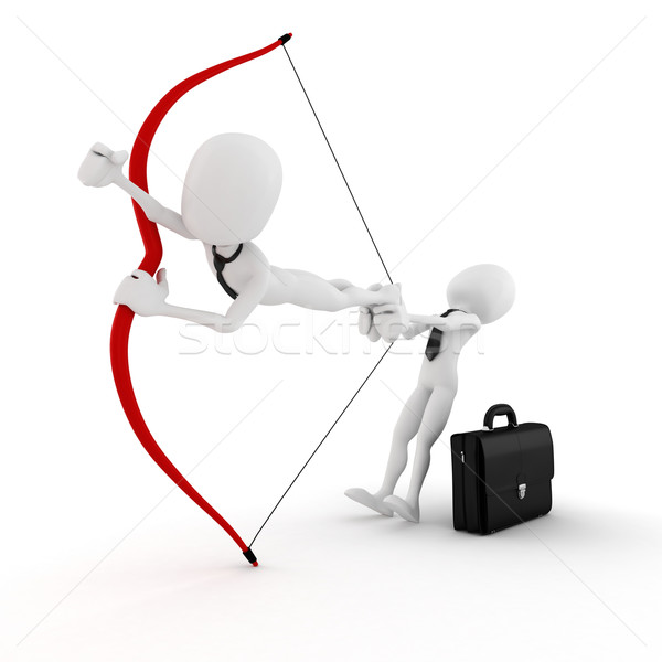 3d man launching  in to business Stock photo © digitalgenetics