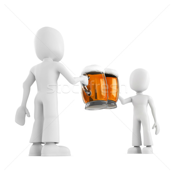 3d man and beer Stock photo © digitalgenetics