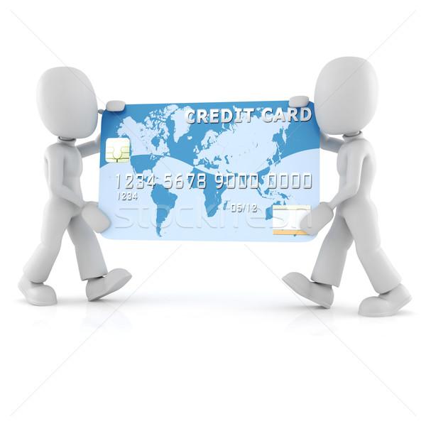 Stock fotó: 3d · ember · hordoz · névjegy · üzlet · pénz · internet