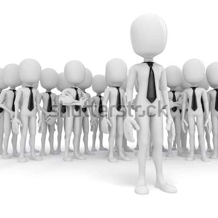 3d man leader foule 3D hommes Photo stock © digitalgenetics
