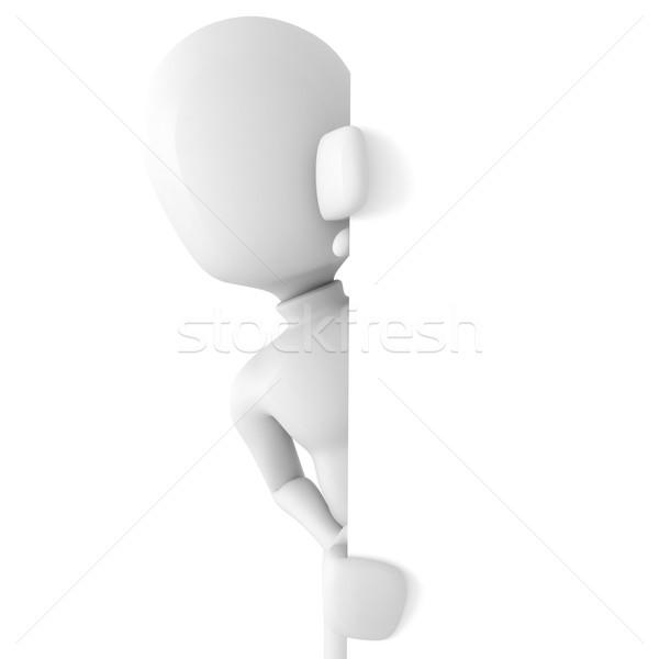 Tanımlama kâğıt adam duvar finanse Stok fotoğraf © digitalgenetics