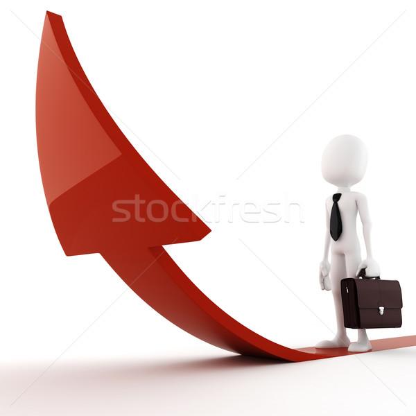 3d man on arrow - competition comcept Stock photo © digitalgenetics