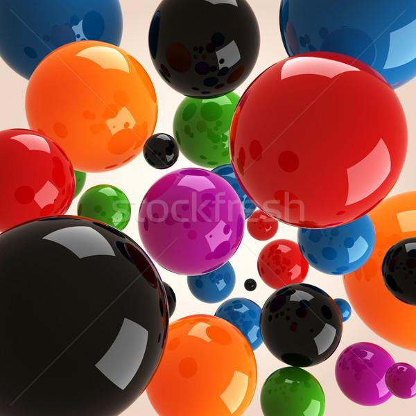 3D design art balle rouge Photo stock © digitalgenetics