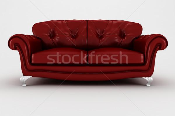 Foto stock: 3D · sofá · estúdio · tornar · casa · relaxar