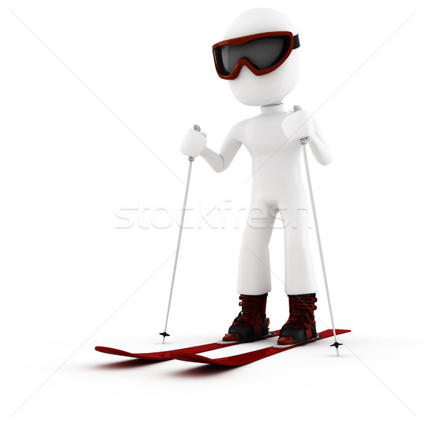3d man extreme winter sport Stock photo © digitalgenetics