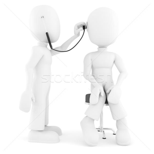 3d man muayene el adam doktor arka plan Stok fotoğraf © digitalgenetics