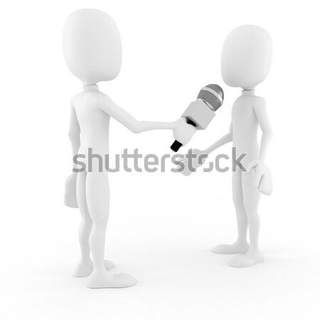 3d man getting fired,isolated on white Stock photo © digitalgenetics