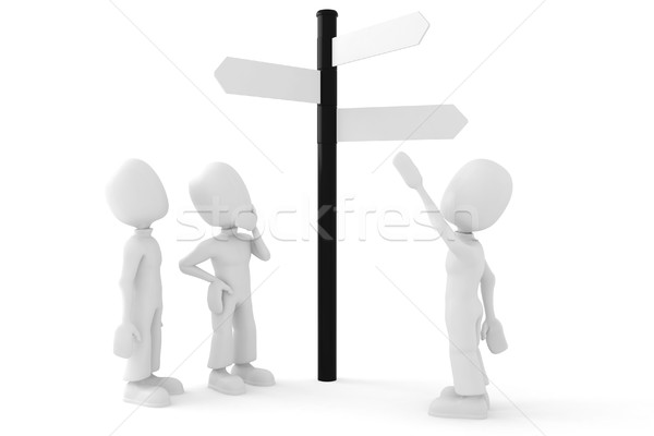 Nie opis arrow zdaniem pomysł pokaż Zdjęcia stock © digitalgenetics