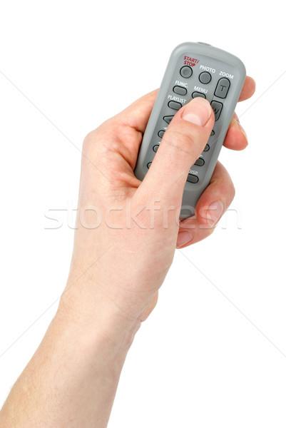Mano minuscolo infrarossi telecomando unità isolato Foto d'archivio © digitalr