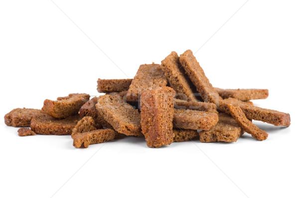 Klein rogge brood zout geïsoleerd Stockfoto © digitalr