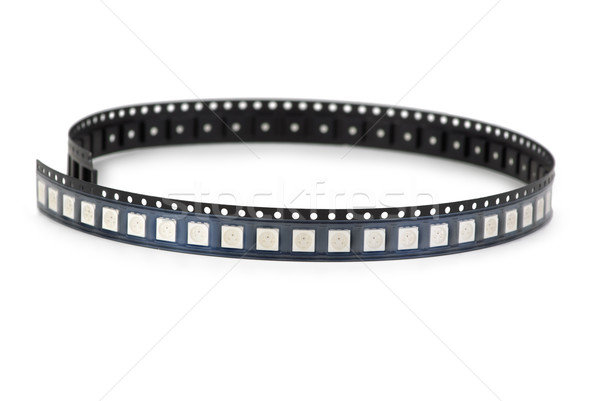 SMD LEDs in the plastic ribbon Stock photo © digitalr