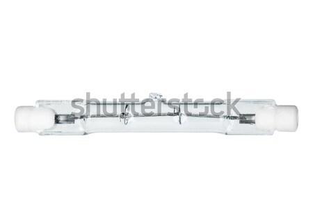 Linéaire halogène ampoule isolé blanche technologie Photo stock © digitalr