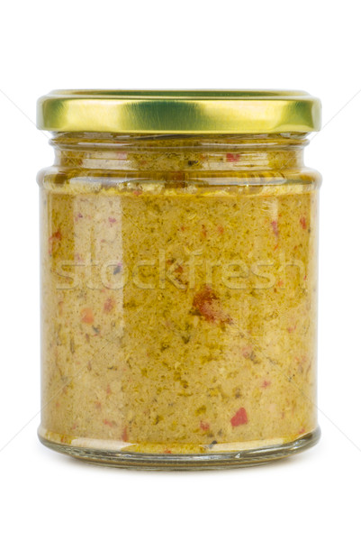Glass jar with olive paste Stock photo © digitalr